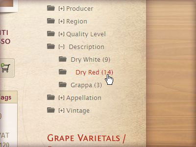 Navigation example: Dry Red